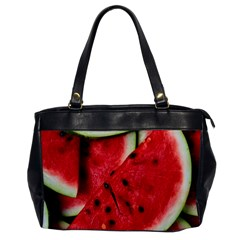 Fresh Watermelon Slices Texture Office Handbags