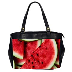 Fresh Watermelon Slices Texture Office Handbags (2 Sides)