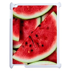 Fresh Watermelon Slices Texture Apple Ipad 2 Case (white)