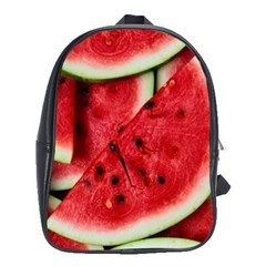 Fresh Watermelon Slices Texture School Bags (xl)  by BangZart