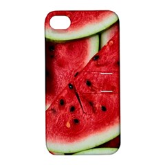 Fresh Watermelon Slices Texture Apple Iphone 4/4s Hardshell Case With Stand