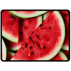 Fresh Watermelon Slices Texture Double Sided Fleece Blanket (large)  by BangZart