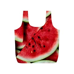Fresh Watermelon Slices Texture Full Print Recycle Bags (s)