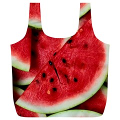 Fresh Watermelon Slices Texture Full Print Recycle Bags (l)