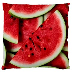 Fresh Watermelon Slices Texture Standard Flano Cushion Case (two Sides)