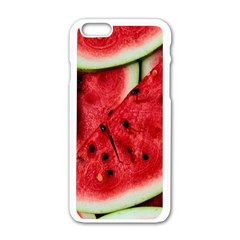 Fresh Watermelon Slices Texture Apple Iphone 6/6s White Enamel Case