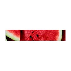 Fresh Watermelon Slices Texture Flano Scarf (mini)