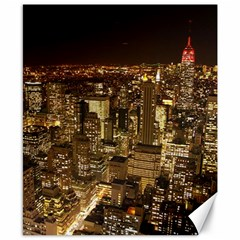 New York City At Night Future City Night Canvas 8  X 10