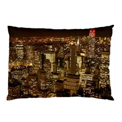 New York City At Night Future City Night Pillow Case