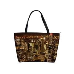 New York City At Night Future City Night Shoulder Handbags