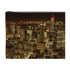 New York City At Night Future City Night Cosmetic Bag (xl)