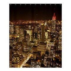 New York City At Night Future City Night Shower Curtain 60  X 72  (medium)