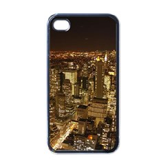 New York City At Night Future City Night Apple Iphone 4 Case (black) by BangZart