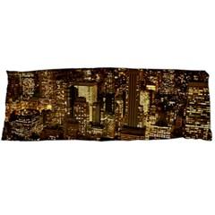 New York City At Night Future City Night Body Pillow Case (dakimakura) by BangZart
