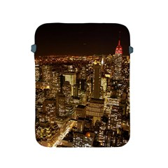 New York City At Night Future City Night Apple Ipad 2/3/4 Protective Soft Cases by BangZart