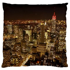 New York City At Night Future City Night Standard Flano Cushion Case (two Sides) by BangZart