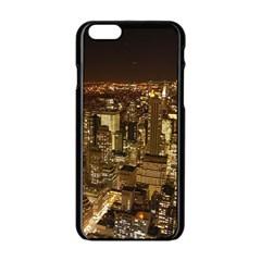 New York City At Night Future City Night Apple Iphone 6/6s Black Enamel Case