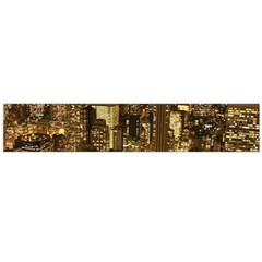 New York City At Night Future City Night Flano Scarf (large)