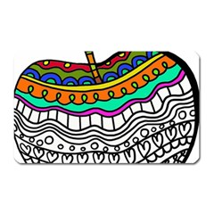 Abstract Apple Art Colorful Magnet (rectangular)