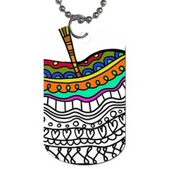Abstract Apple Art Colorful Dog Tag (one Side)