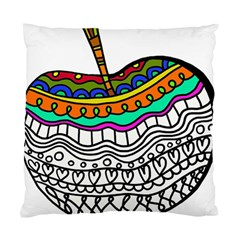 Abstract Apple Art Colorful Standard Cushion Case (two Sides) by Nexatart