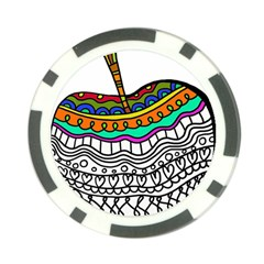 Abstract Apple Art Colorful Poker Chip Card Guard (10 Pack)