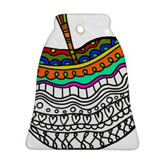 Abstract Apple Art Colorful Bell Ornament (two Sides)