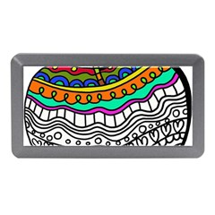 Abstract Apple Art Colorful Memory Card Reader (mini)