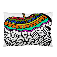 Abstract Apple Art Colorful Pillow Case (two Sides) by Nexatart