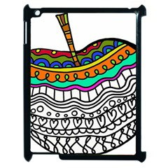 Abstract Apple Art Colorful Apple Ipad 2 Case (black)