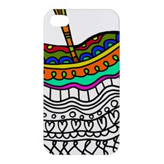 Abstract Apple Art Colorful Apple Iphone 4/4s Hardshell Case by Nexatart