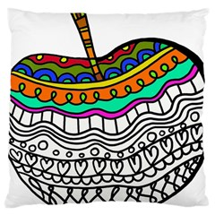Abstract Apple Art Colorful Large Cushion Case (one Side)