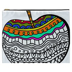 Abstract Apple Art Colorful Cosmetic Bag (xxxl)  by Nexatart