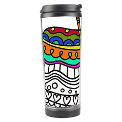 Abstract Apple Art Colorful Travel Tumbler by Nexatart