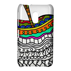 Abstract Apple Art Colorful Nokia Lumia 620