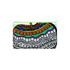 Abstract Apple Art Colorful Cosmetic Bag (xs) by Nexatart