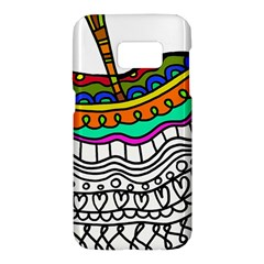 Abstract Apple Art Colorful Samsung Galaxy S7 Hardshell Case  by Nexatart