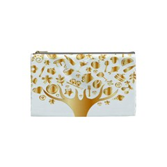 Abstract Book Floral Food Icons Cosmetic Bag (small)  by Nexatart