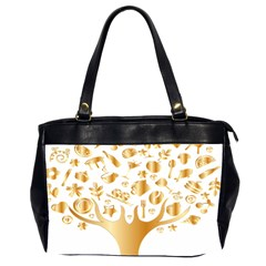 Abstract Book Floral Food Icons Office Handbags (2 Sides)  by Nexatart