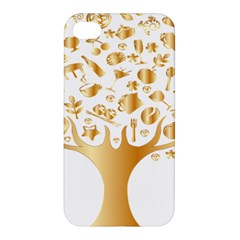 Abstract Book Floral Food Icons Apple Iphone 4/4s Hardshell Case by Nexatart