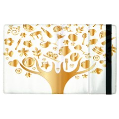 Abstract Book Floral Food Icons Apple Ipad 3/4 Flip Case