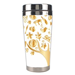 Abstract Book Floral Food Icons Stainless Steel Travel Tumblers by Nexatart