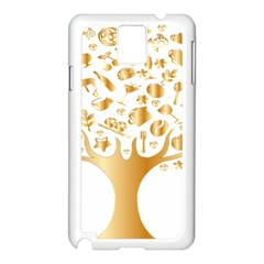 Abstract Book Floral Food Icons Samsung Galaxy Note 3 N9005 Case (white) by Nexatart