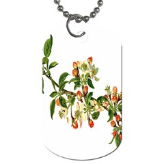 Apple Branch Deciduous Fruit Dog Tag (one Side)