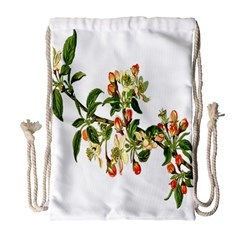 Apple Branch Deciduous Fruit Drawstring Bag (large)