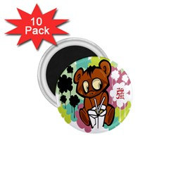 Bear Cute Baby Cartoon Chinese 1 75  Magnets (10 Pack)  by Nexatart