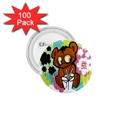 Bear Cute Baby Cartoon Chinese 1 75  Buttons (100 Pack)