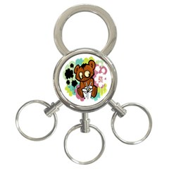 Bear Cute Baby Cartoon Chinese 3 Ring Key Chains by Nexatart