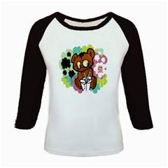 Bear Cute Baby Cartoon Chinese Kids Baseball Jerseys