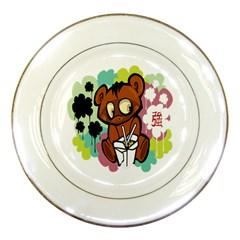 Bear Cute Baby Cartoon Chinese Porcelain Plates